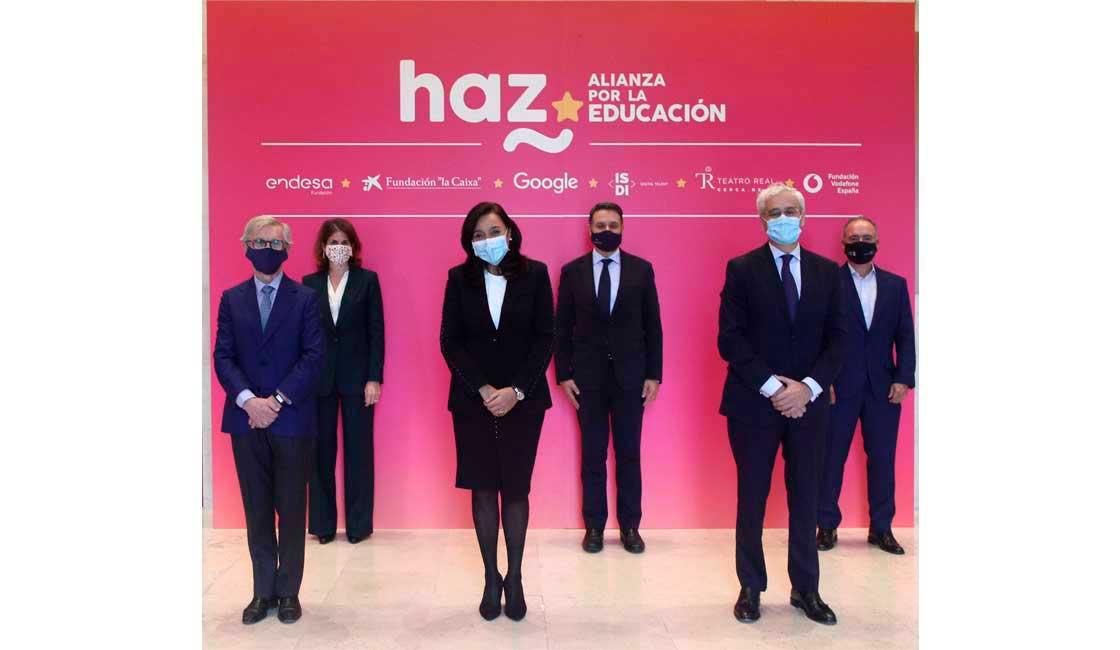 """NACE """"HAZ"""", LA PRIMERA ALIANZA DE GRANDES EMPRESAS Y FUNDACIONES UNIDAS PARA TRANSFORMAR LA SOCIEDAD A TRAVÉS DE LA EDUCACIÓN"""